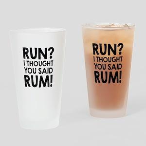 Run Rum Drinking Glass
