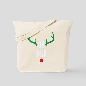 Oh Deer Christmas Tote Bag