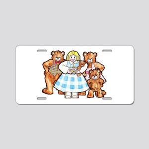Goldilocks And The Three Bears Aluminum License Pl