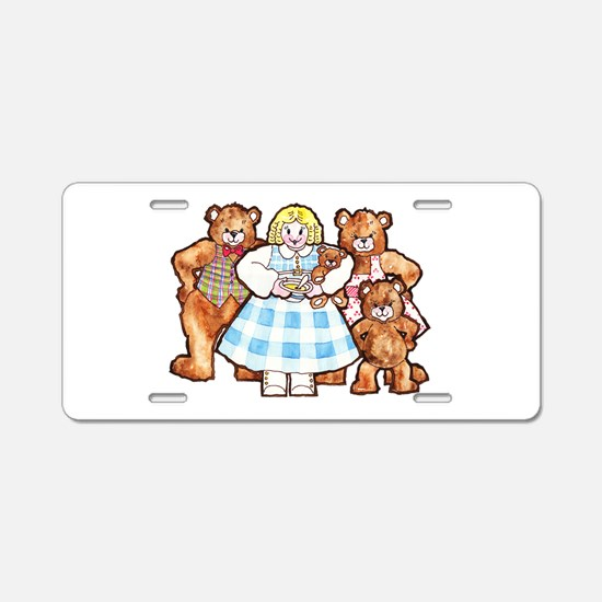 Goldilocks And The Three Bears Aluminum License Pl