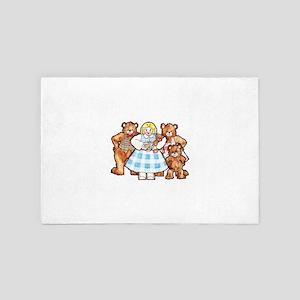 Goldilocks And The Three Bears 4' x 6' Rug
