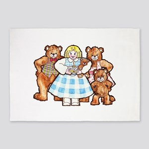 Goldilocks And The Three Bears 5'x7'Area Rug
