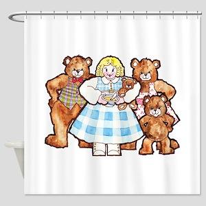 Goldilocks And The Three Bears Shower Curtain
