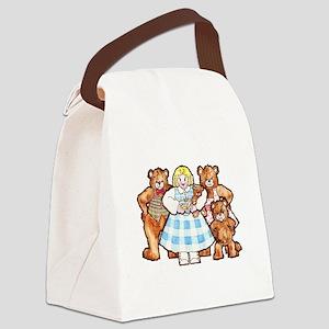 Goldilocks And The Three Bears Canvas Lunch Bag