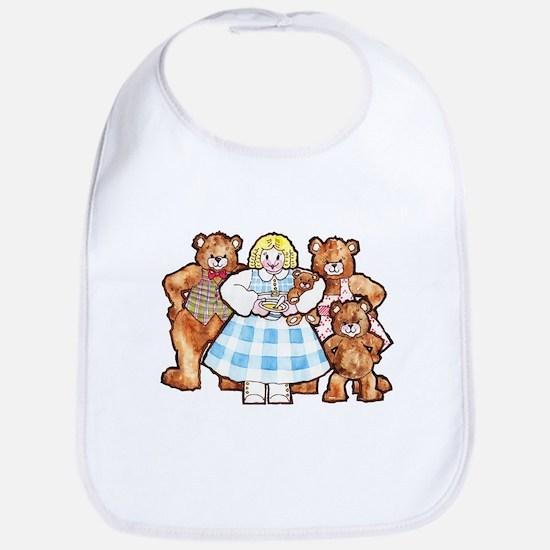 Goldilocks And The Three Bears Baby Bib
