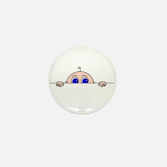 PEEK-A-BOO BABY (Blue Eyes) Mini Button