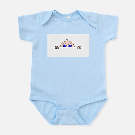 PEEK-A-BOO BABY (Blue Eyes) Infant Bodysuit