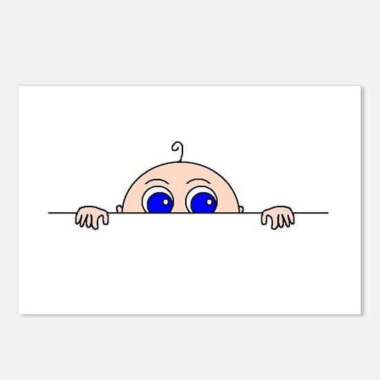 PEEK-A-BOO BABY (Blue Eyes) Postcards (Package of