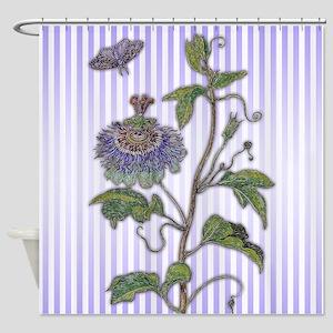 Merian: Passiflora Shower Curtain