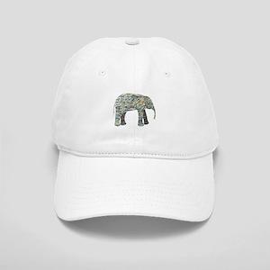 Elephant Collage Cap