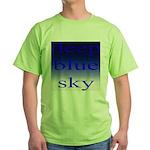 307. deep blue sky..[color] Green T-Shirt