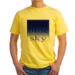 307. deep blue sky..[color] Yellow T-Shirt