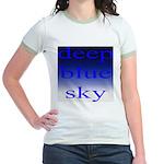 307. deep blue sky..[color] Jr. Ringer T-Shirt