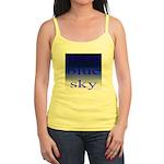 307. deep blue sky..[color] Jr. Spaghetti Tank