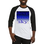 307. deep blue sky..[color] Baseball Jersey