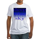 307. deep blue sky..[color] Fitted T-Shirt