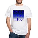 307. deep blue sky..[color] White T-Shirt