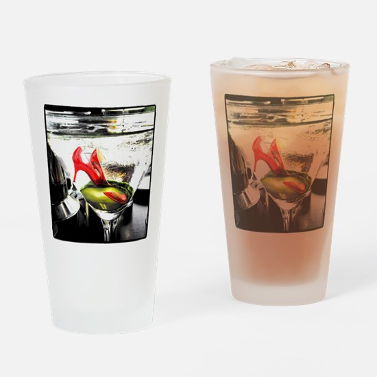 Cute Christine colorful Drinking Glass