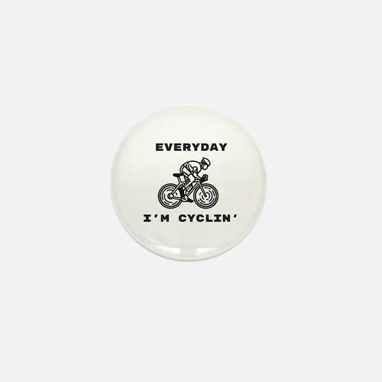 Cyclin' Mini Button