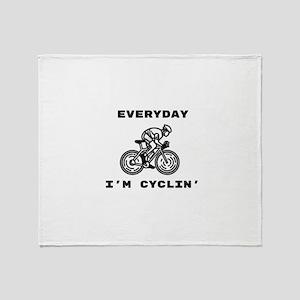 Cyclin' Throw Blanket