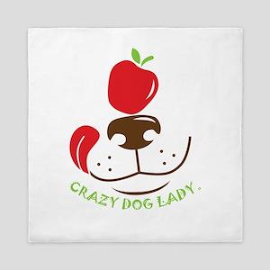 crazy dog lady Queen Duvet