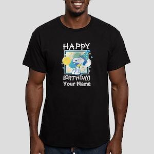 Peanuts Happy Birthday Men's Fitted T-Shirt (dark)