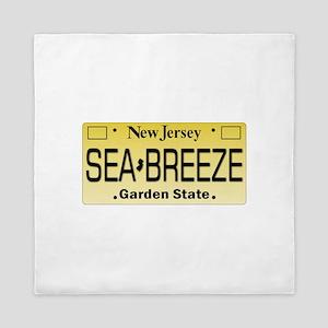 Sea Breeze NJ Tag Gifts Queen Duvet