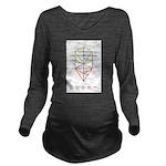 Kabbalah Long Sleeve Maternity T-Shirt