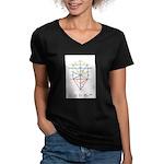 Kabbalah Women's V-Neck Dark T-Shirt