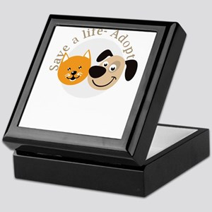 save a life - adopt Keepsake Box