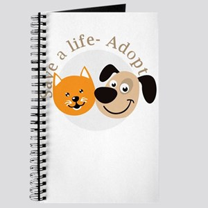 save a life - adopt Journal