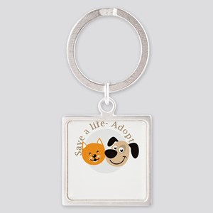 save a life - adopt Keychains