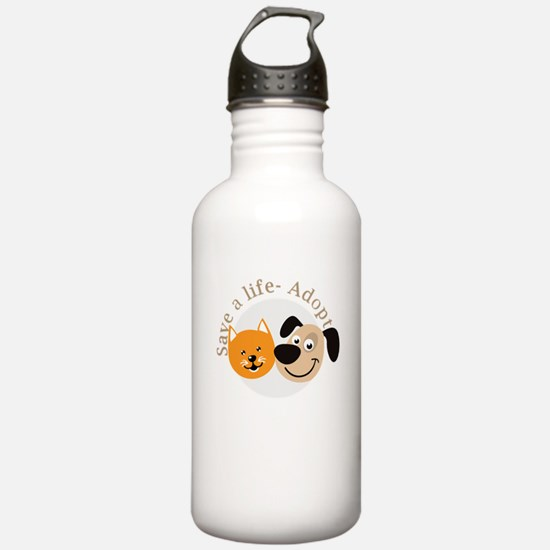 save a life - adopt Water Bottle