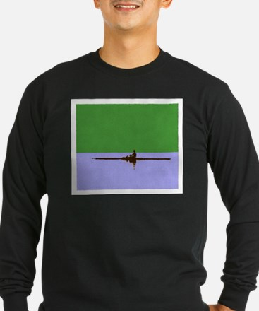 ROWER GREEN BLUE PAINTED Long Sleeve T-Shirt