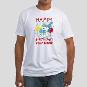 Peanuts Happy Birthday Red Personal Fitted T-Shirt