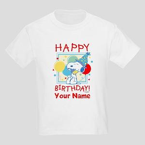 Peanuts Happy Birthday Red Pers Kids Light T-Shirt