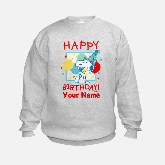 Peanuts Happy Birthday Red Persona Sweatshirt