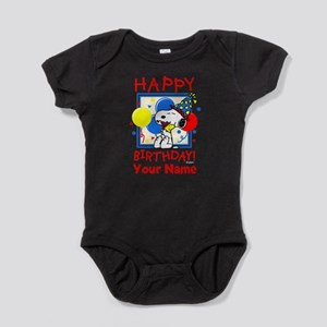 Peanuts Happy Birthday Red Personali Baby Bodysuit