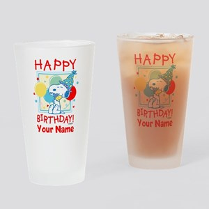 Peanuts Happy Birthday Red Personal Drinking Glass