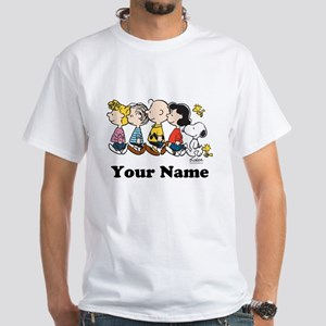 Peanuts Walking No BG Personalized White T-Shirt