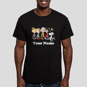 Peanuts Walking No BG Men's Fitted T-Shirt (dark)