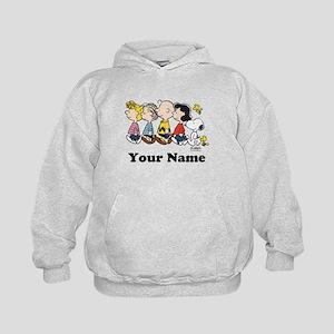Peanuts Walking No BG Personalized Kids Hoodie