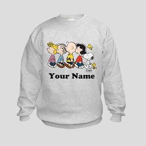 Peanuts Walking No BG Personalized Kids Sweatshirt