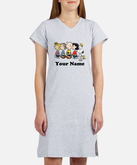 Peanuts Walking No BG Personali Women's Nightshirt