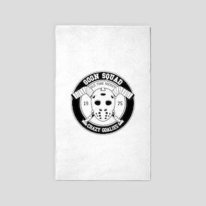 Hockey mask print Area Rug