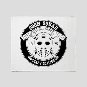 Hockey mask print Throw Blanket