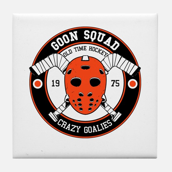 Goon Hockey mask Tile Coaster