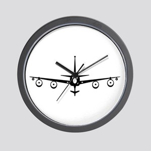 KC-135 Black Wall Clock
