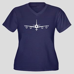 KC-135R Women's Plus Size V-Neck Dark T-Shirt