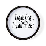 Thank God I'm an atheist Wall Clock